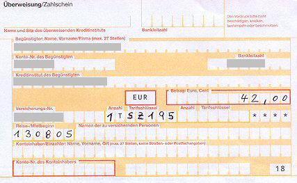 Auszahlungsquittung
